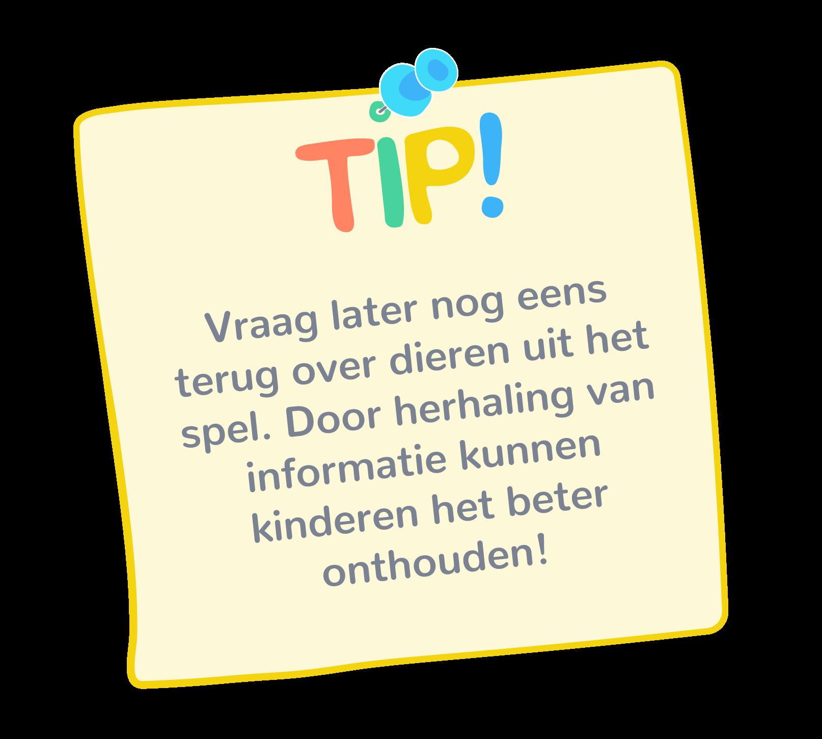 Door herhaling van informatie kunnen kinderen het beter onthouden