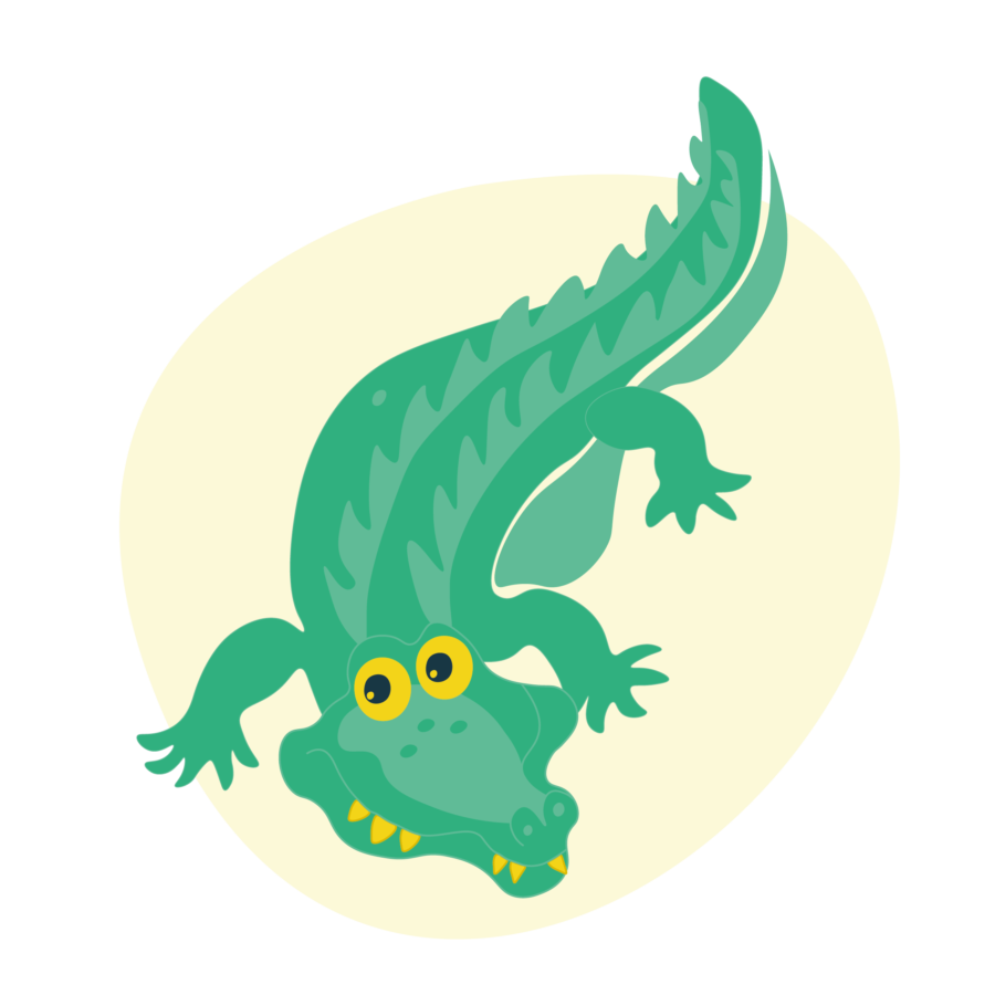 Kidiyo karakter dier krokodil
