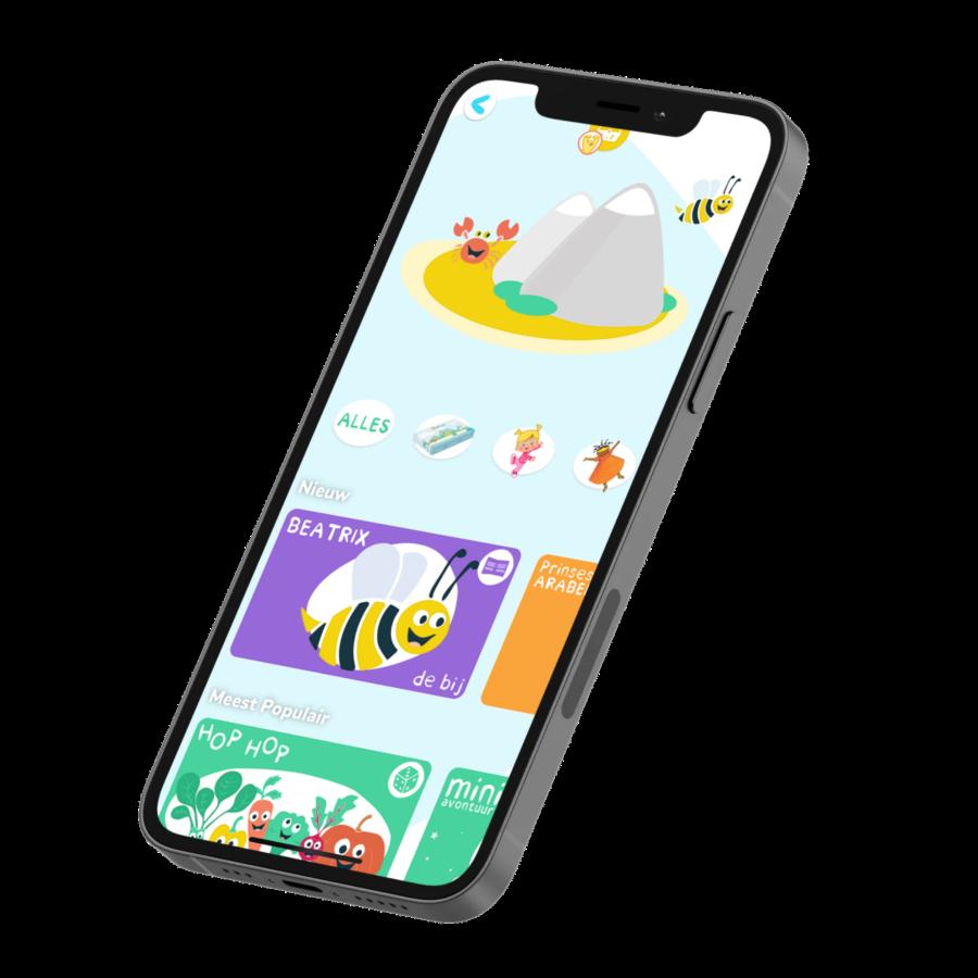 mockup voorbeeld Kidiyo app